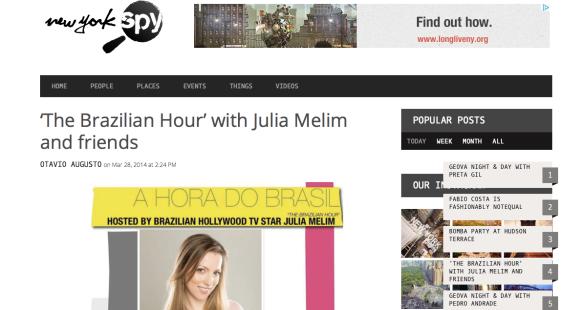 NY SPY - Brazilian Hour http://newyorkspy.com/2014/03/julia-melim-and-the-brazilian-hour/