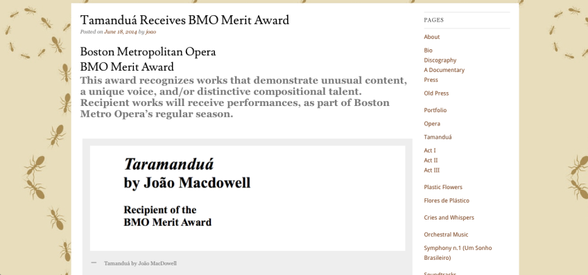 BOSTON METROPOLITAN OPERA - Merit Award - http://www.bostonmetroopera.com